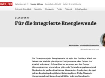 Taggesspiegel Background Energiewende April 2021
